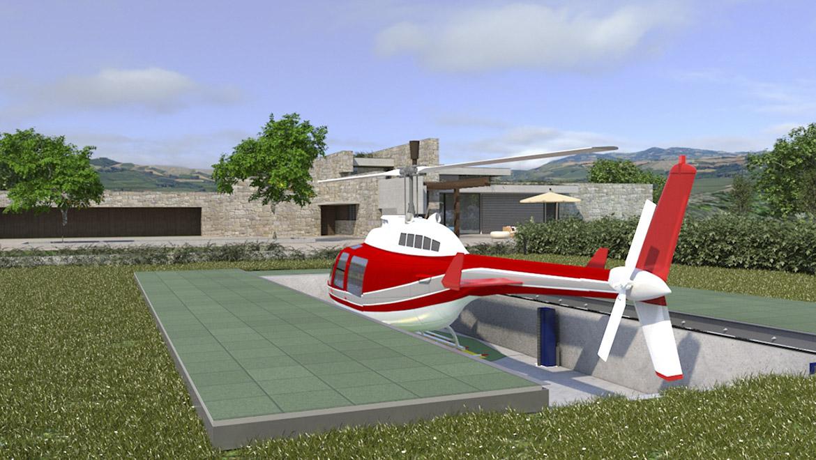 underground hangar for helicopters